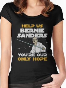 help us bernie sanders you're our only hope Women's Fitted Scoop T-Shirt