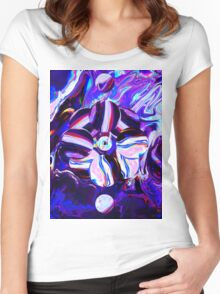 Abstract 45 Women's Fitted Scoop T-Shirt