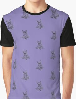 Purple Frenchie Graphic T-Shirt