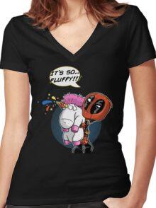 Fluffy! Women's Fitted V-Neck T-Shirt