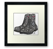 Polish MIA Boots Framed Print