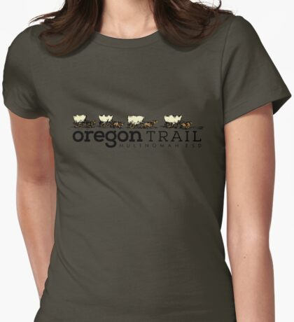 Wagon Train Womens Fitted T-Shirt