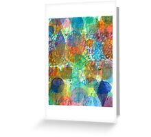 Bubbling Geometric Forms over Curved Lines Greeting Card