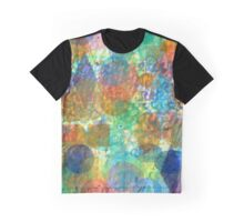 Bubbling Geometric Forms over Curved Lines Graphic T-Shirt