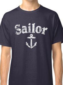Sailor Anchor Vintage Sailing Design (White) Classic T-Shirt