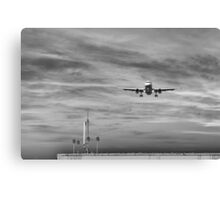 One minute before landing Canvas Print