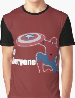 """Hi Everyone"" Spiderman Graphic T-Shirt"