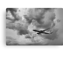 Airbus is landing Canvas Print