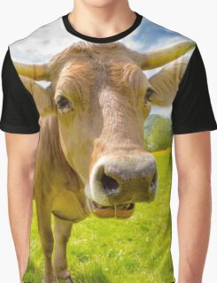 Wholly Cow! Moo cow lovers of the farm unite - Oil Painting Graphic T-Shirt