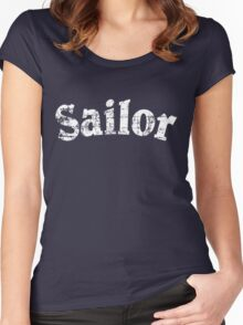 Sailor Vintage Sailing Design (White) Women's Fitted Scoop T-Shirt
