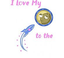 I love my Grandson to the moon and back Photographic Print