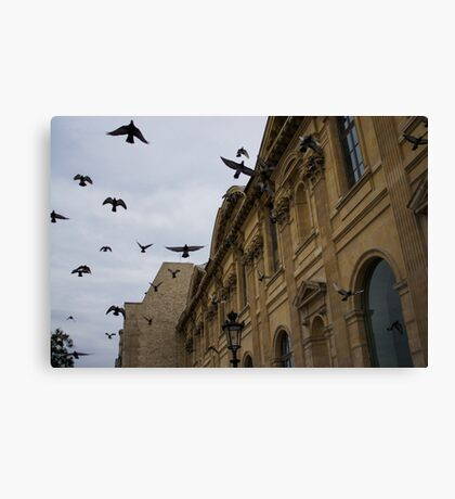 Commotion in the Sky of Paris Canvas Print