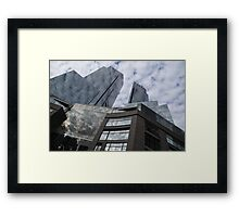New York Sky and Skyscrapers Framed Print