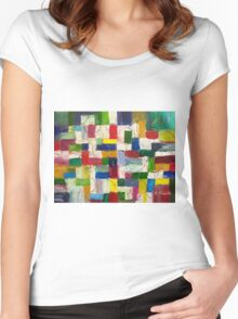 Olympics oil painting Women's Fitted Scoop T-Shirt