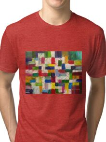 Olympics oil painting Tri-blend T-Shirt