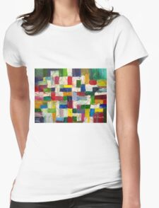 Olympics oil painting Womens Fitted T-Shirt