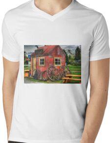 Rustic Mens V-Neck T-Shirt
