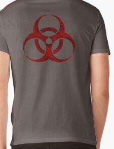 Biohazard symbol Mens V-Neck T-Shirt
