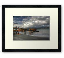old seaweed covered boat shed Framed Print