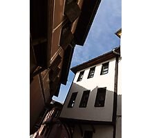Sun and Shade - Elegant Revival Houses in Old Town Plovdiv, Bulgaria - Vertical Photographic Print