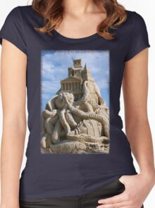 Sand Sculpture ~ a Tribute to Jules Verne Women's Fitted Scoop T-Shirt