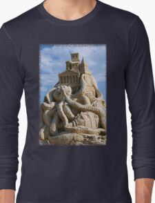 Sand Sculpture ~ a Tribute to Jules Verne Long Sleeve T-Shirt