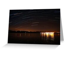 Star trailing Greeting Card