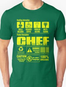 Handing Information Chef 100% Organic T-Shirt