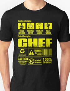 Handing Information Chef 100% Organic T-Shirt