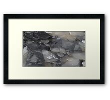 blocks of ice on frozen river Framed Print