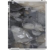 blocks of ice on frozen river iPad Case/Skin