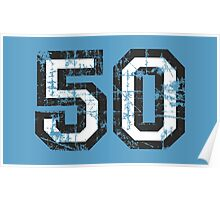 Number 50 Vintage 50th Birthday Anniversary Poster