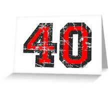 Number 40 Vintage 40th Birthday Anniversary Greeting Card