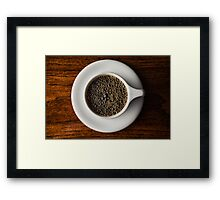 Fresh Cup of Joe Framed Print