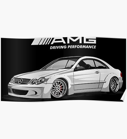 Mercedes AMG Driving Performance Poster