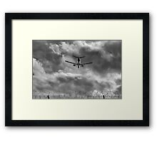 Through the airport fence Framed Print