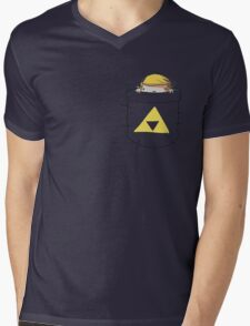 pockets Mens V-Neck T-Shirt
