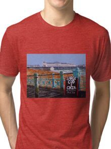 Large Cod and Chips Tri-blend T-Shirt