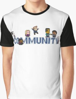 Community Logo with Characters Graphic T-Shirt