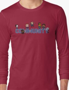 Community Logo with Characters Long Sleeve T-Shirt