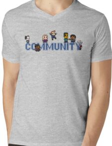 Community Logo with Characters Mens V-Neck T-Shirt