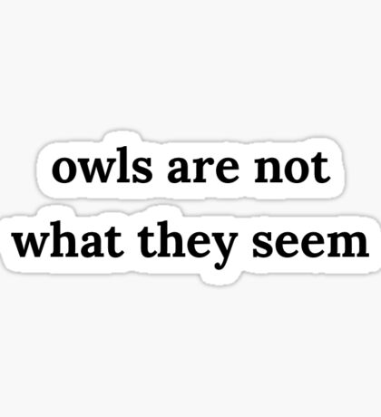 owls are not what they seem Sticker