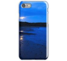 Moon rising over Whitley Bay iPhone Case/Skin