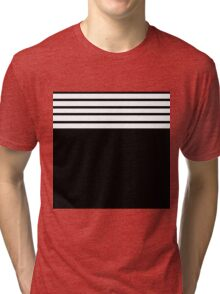 Black and white stripes Tri-blend T-Shirt