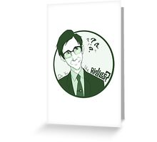 The Riddle Man Greeting Card