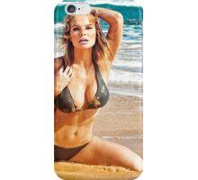 Sexy Bikni Model Posing on Hawaiian Beach iPhone Case/Skin