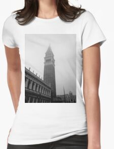 San Marco Campanile in Fog Womens Fitted T-Shirt