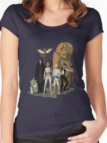 avatar/star wars crossover Women's Fitted Scoop T-Shirt
