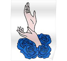 Hands and roses Poster