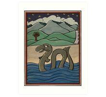 Caddy - Cadborosaurus Art Print